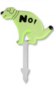 Panneau chien interdit luminescent