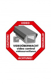 "Sticker ""Vorsicht Video"" 5er Pack"