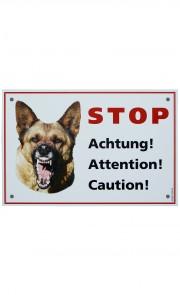 Panneau d'avertissement de chien