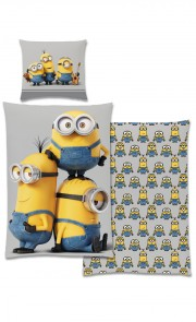 Bettwäsche Garnitur Minions grey