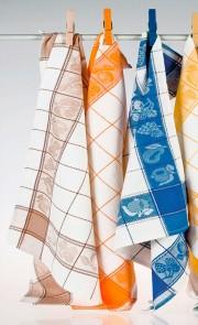 Torchons en tissu gaufré lot de 3