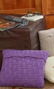 Instructions pour tricoter coussins