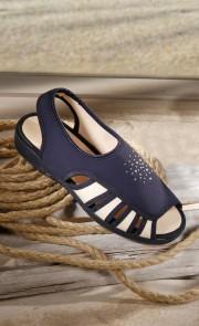 Antidruck-Sandale mit Strass
