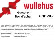 Bon d'achat CHF 20.-